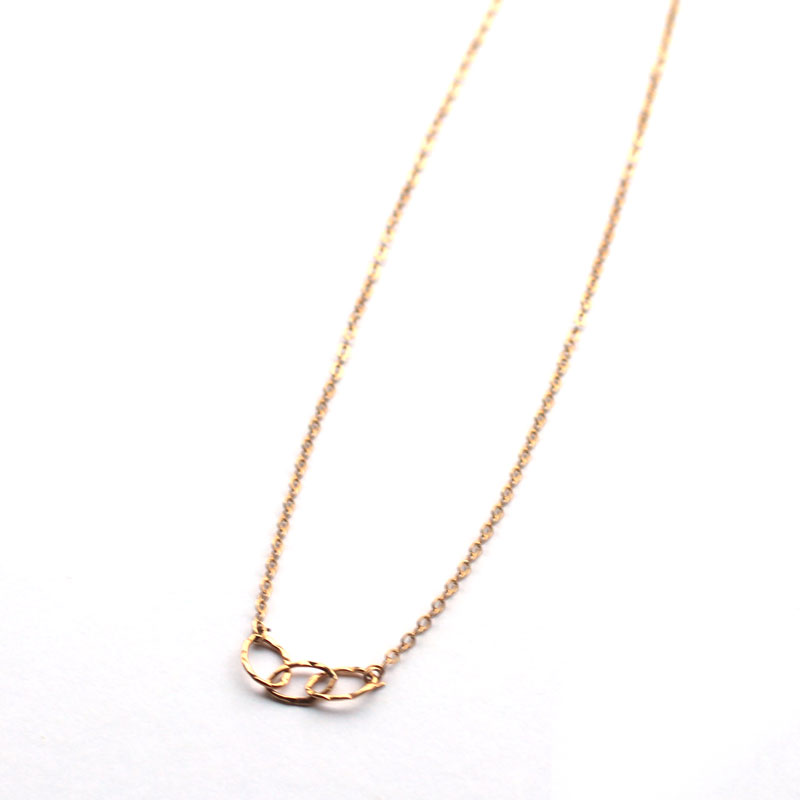 3-hammered-circle-chain-necklace-14k-gold-filled