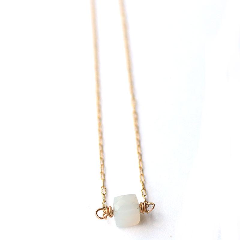 blue-chalcedony-cube-necklace-simple-handmade-jewelry-atlanta-ga