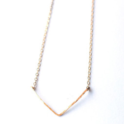 handmade-chevron-hammered-necklace-jewelry